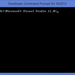 Developer Command Prompt for VS 2012