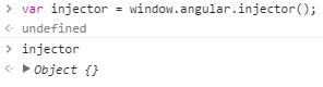 Récupération de l'injecteur AngularJS