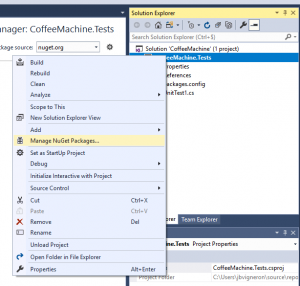Gérer les packages NuGet dans Visual Studio